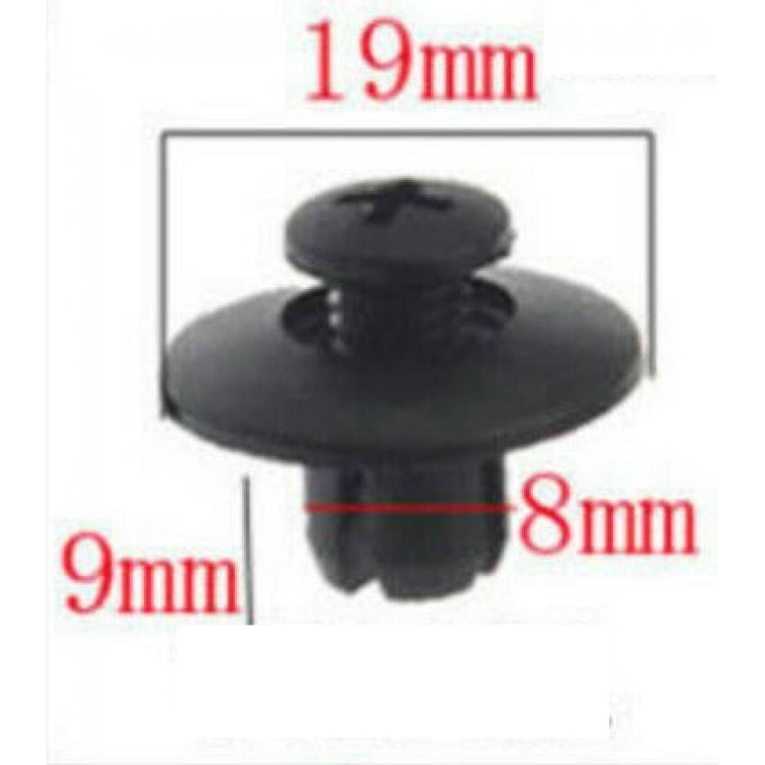 קליפס אוניברסלי בצבע שחור לחור בקוטר 8 ממ ועומק 9 ממ